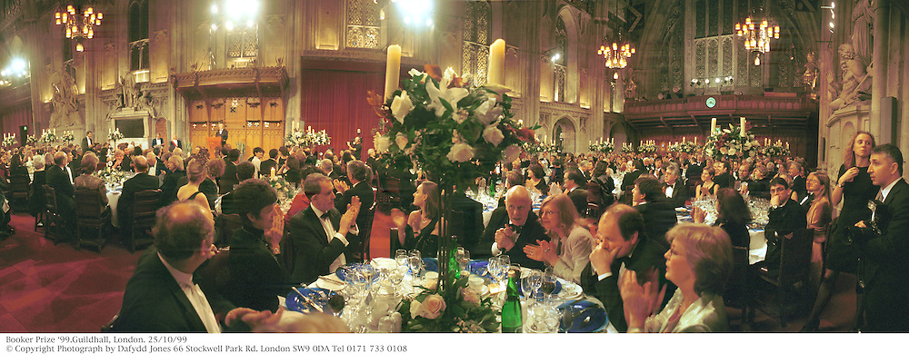 Booker Prize &lsquo;99.Guildhall, London. 25/10/99<br /> &copy; Copyright Photograph by Dafydd Jones 66 Stockwell Park Rd. London SW9 0DA Tel 0171 733 0108