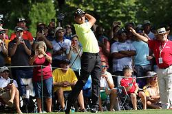 September 21, 2018 - Atlanta, GA, U.S. - ATLANTA, GA - SEPTEMBER 21: Rickie Fowler during the second round of the PGA Tour Championship on September 21, 2018, at East Lake Golf Club in Atlanta, GA. (Photo by Michael Wade/Icon Sportswire) (Credit Image: © Michael Wade/Icon SMI via ZUMA Press)