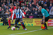 John McCoombe & Rolando Aarons during the Pre-Season Friendly match between York City and Newcastle United at Bootham Crescent, York, England on 29 July 2015. Photo by Simon Davies.
