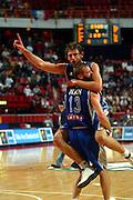 EUROPEI STOCCOLMA 2003<br /> FINALE 3 - 4 POSTO <br /> ITALIA - FRANCIA<br /> NELLA FOTO: GIACOMO GALANDA MICHELE MIAN<br /> FOTO CIAMILLO
