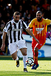 April 7, 2018 - Benevento, Italy - Gonzalo Higuain (FC Juventus) ..during the Italian Serie A football Benevento Calcio v FC Juventus at Ciro Vigorito..Stadium in Benevento on April 07, 2018  (Credit Image: © Paolo Manzo/NurPhoto via ZUMA Press)