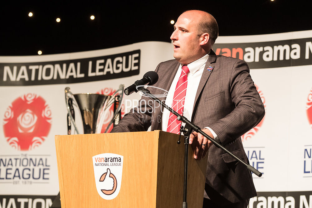 Leyton Orient Chief Executive Danny Macklin during the National League Gala Awards at Celtic Manor Resort, Newport, United Kingdom on 8 June 2019.