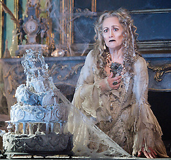 Paula Wilcox as Miss Havisham,.Great Expectations.by Charles Dickens..adapted by Jo Clifford.directed by Graham McLaren.at The Vaudeville Theatre, London, Great Britain, February 4, 2013. Photo by Elliott Franks / i-Images.