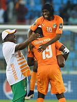 Joie de Kouassi Gervais Yao Gervinho et yaya Toure (CIV)