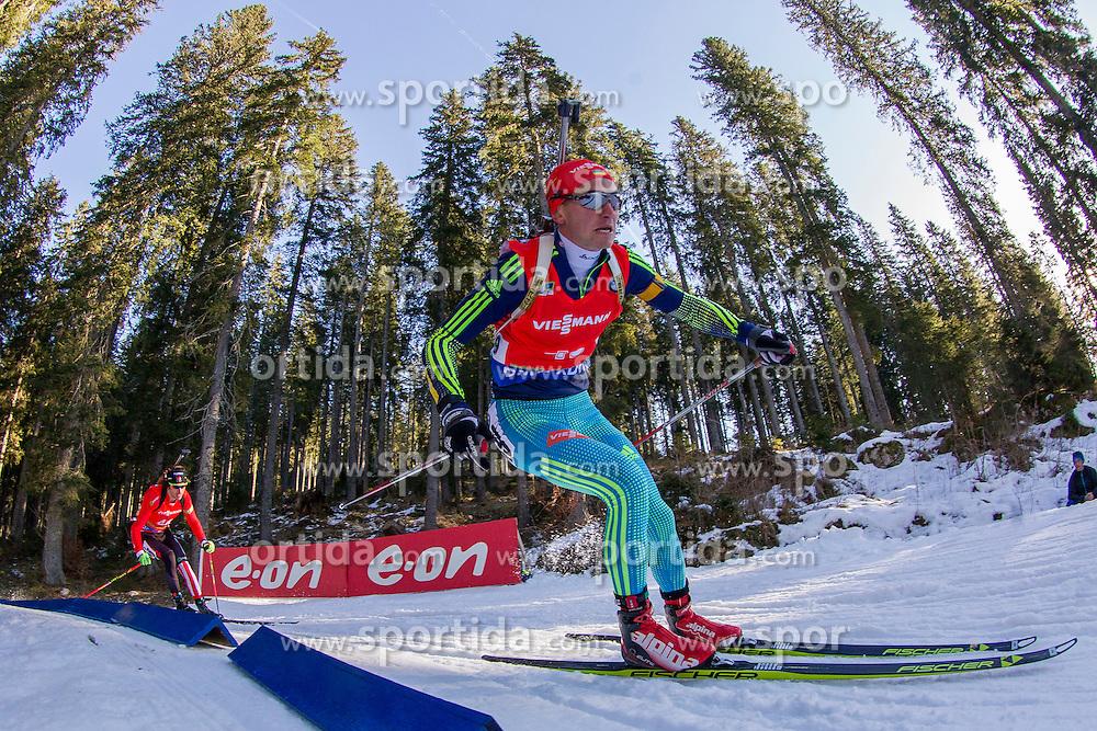 Sergey Semenov (UKR) competes during Men 12,5 km Pursuit at day 3 of IBU Biathlon World Cup 2015/16 Pokljuka, on December 19, 2015 in Rudno polje, Pokljuka, Slovenia. Photo by Urban Urbanc / Sportida