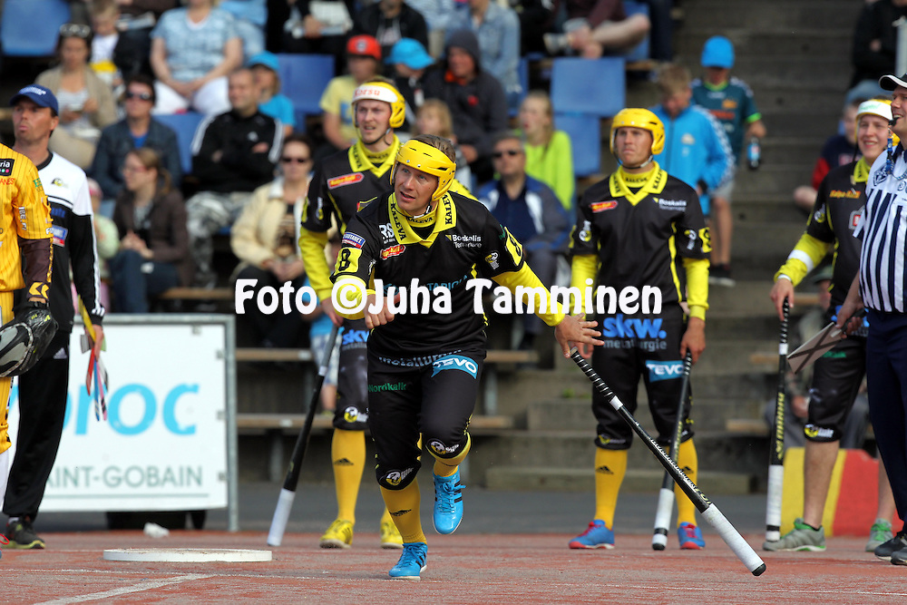 15.6.2014, Pihkala, Hyvink&auml;&auml;.<br /> Superpesis 2014, Hyvink&auml;&auml;n Tahko - Pattijoen Urheilijat, Raahe.<br /> Hannu Ikonen - PattU