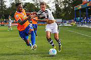 Braintree Town's Craig Braham-Barrett(11) and Forest Green Rovers Ben Jefford (3) challenge for the ball during the Vanarama National League match between Braintree Town and Forest Green Rovers at the Amlin Stadium, Braintree, United Kingdom on 24 September 2016. Photo by Shane Healey.