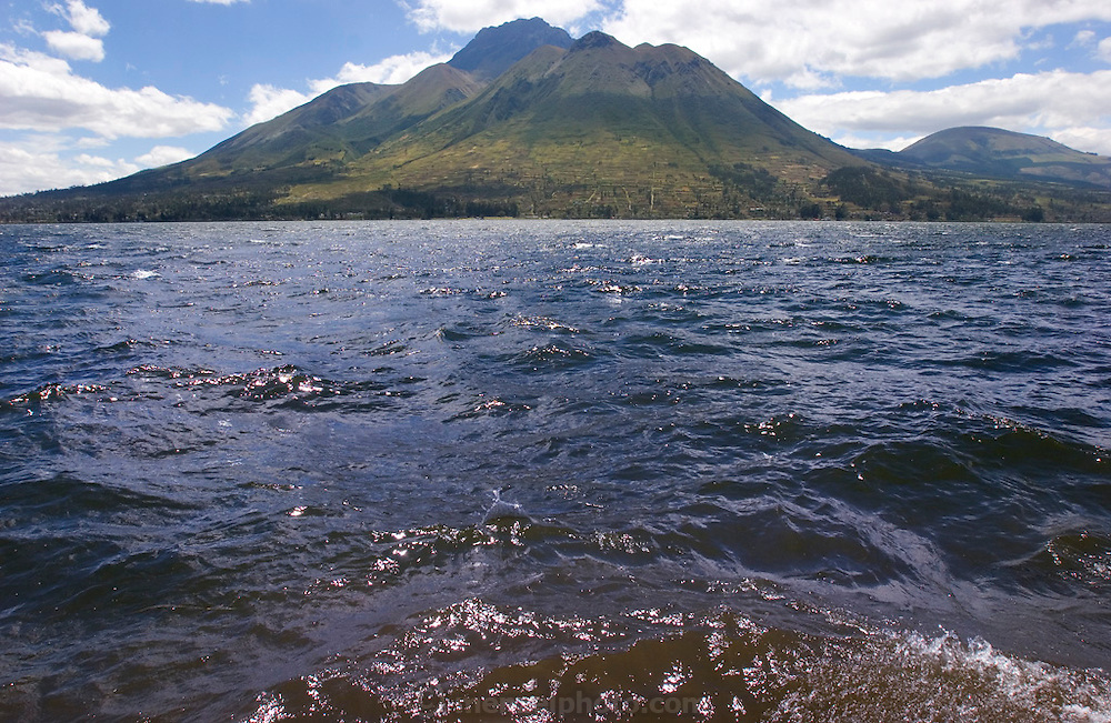 A mountain lake near Otavalo, Ecuador.