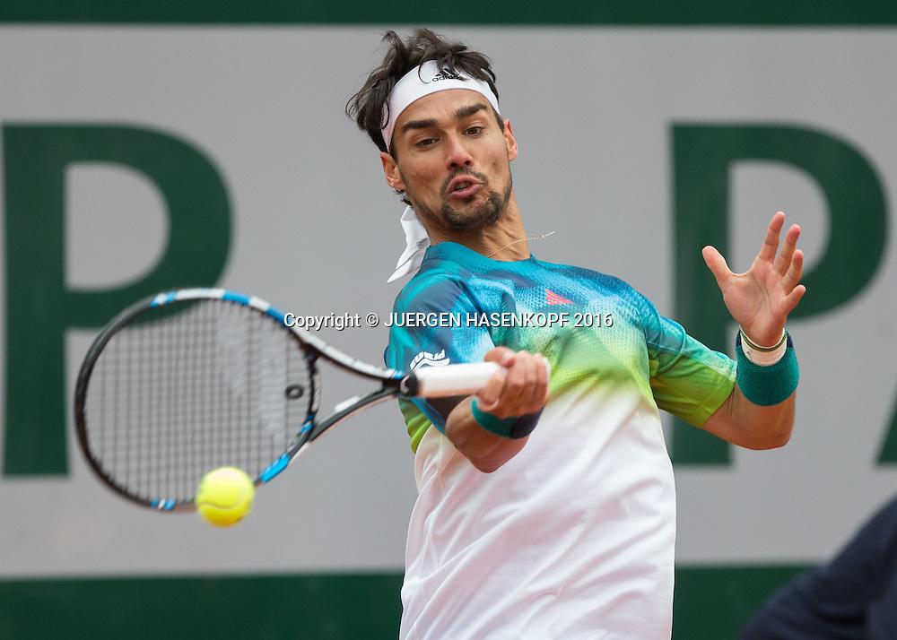 Fabio Fognini (ITA)<br /> <br /> Tennis - French Open 2016 - Grand Slam ITF / ATP / WTA -  Roland Garros - Paris -  - France  - 24 May 2016.