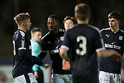 Roarie Deacon of Dundee is congratulated after scoring the first by Jack Lambert - Dundee v Hibernian, SPFL Under 20 Development League at Links Park, Montrose<br /> <br />  - &copy; David Young - www.davidyoungphoto.co.uk - email: davidyoungphoto@gmail.com