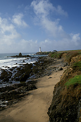 CA: Pigeon Point, California, lighthouse 2005 .Image: capigeon114.Photo Copyright: Lee Foster, lee@fostertravel.com, www.fostertravel.com, (510) 549-2202..