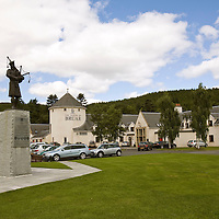 The 51st Highland Division memorial by The House of Bruar, Perthshire.<br /> <br /> Picture by Graeme Hart.<br /> Copyright Perthshire Picture Agency<br /> Tel: 01738 623350  Mobile: 07990 594431
