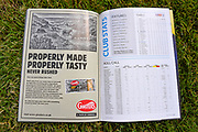 Ginsters advert in programme ahead of the EFL Sky Bet League 1 match between Gillingham and Coventry City at the MEMS Priestfield Stadium, Gillingham, England on 25 August 2018.