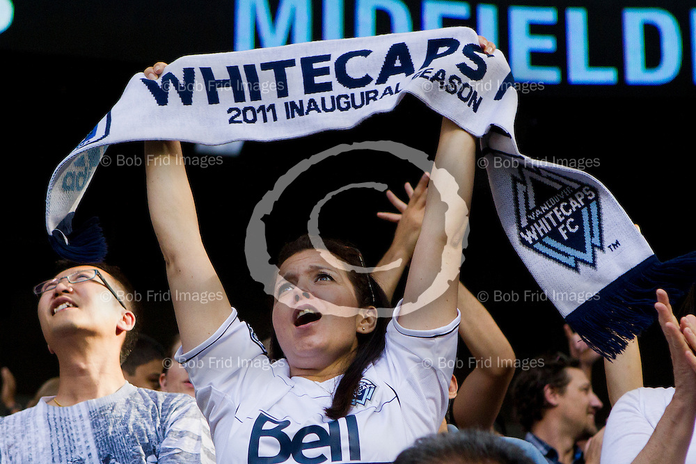 11 August 2012:   Action during a game between Vancouver Whitecaps FC and Los Angeles Galaxy on Bell Pitch Downtown at BC Place Stadium in Vancouver, BC, Canada.  FInal Score:  Vancouver Salt Lake   ****(Photo by Bob Frid - Vancouver Whitecaps 2012 - All Rights Reserved)