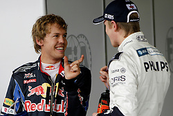 Motorsports / Formula 1: World Championship 2010, GP of Brasil, Qualifying, 05 Sebastian Vettel (GER, Red Bull Racing), 10 Nico Huelkenberg (GER, AT&T Williams),