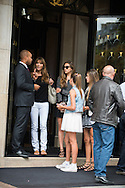 Jennifer Flavin, Stallone wife's and Sistine Rose Stallone, Sophia Rose Stallone, Scarlet Rose Stallone going to shopping in Paris before the ' Expendable 3' Movie Premiere at the 'UGC Normandie, in Paris.<br /> <br /> Paris, France 07 août 2014.