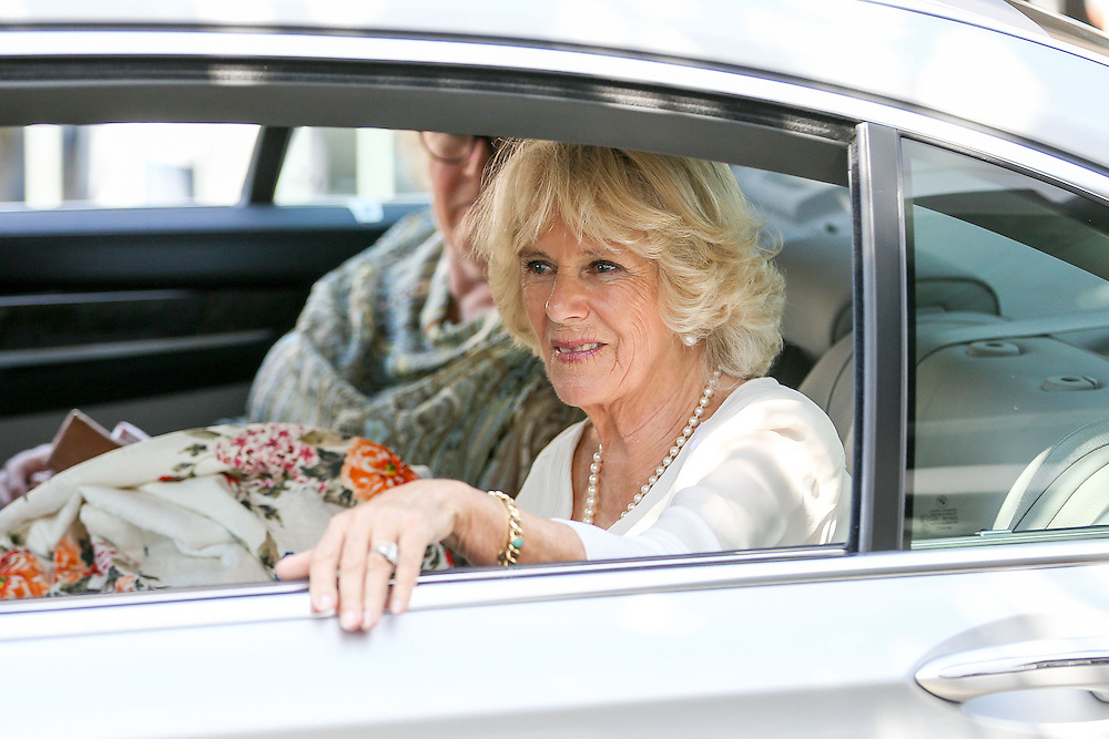Camilla, Duchess of Cornwall leaves after a visit to the Len Lye Centre, New Plymouth, New Zealand, New Zealand, Monday, November 09, 2015. Credit:SNPA / Getty, Hagen Hopkins  **POOL**