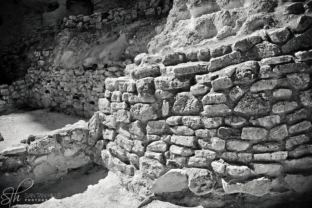 Building remains at Montezuma Castle, Camp Verde, AZ