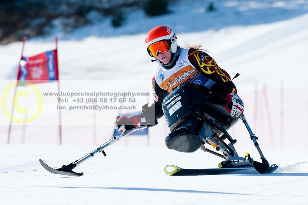 ALLABERT Eline, BEL, Giant Slalom, 2013 IPC Alpine Skiing World Championships, La Molina, Spain