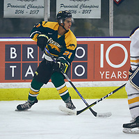 1st year forward, Tyler Kreklewich (21) of the Regina Cougars during the Men's Hockey Home Game on Sat Oct 13 at Co-operators Center. Credit: Arthur Ward/Arthur Images