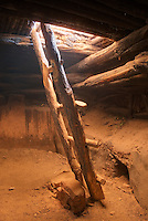 Inside Perfect Kiva Site, Bullet Canyon, Grand Gulch Primitive Area, Cedar Mesa Utah Bears Ears National Monument