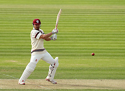 Somerset's James Hildreth cuts the ball - Photo mandatory by-line: Robbie Stephenson/JMP - Mobile: 07966 386802 - 21/06/2015 - SPORT - Cricket - Southampton - The Ageas Bowl - Hampshire v Somerset - County Championship Division One