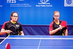 GERMANY (MIKOLASCHEK Sandra and HENTIG Lisa Anna Maria) during day 4 of 15th EPINT tournament - European Table Tennis Championships for the Disabled 2017, at Arena Tri Lilije, Lasko, Slovenia, on October 1, 2017. Photo by Ziga Zupan / Sportida