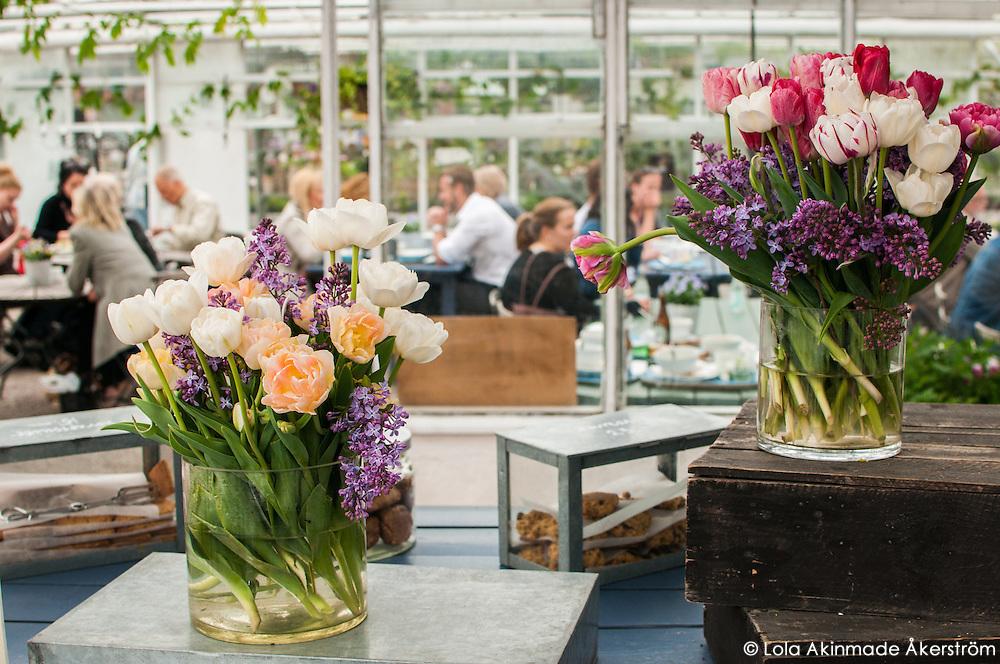 Inside Rosendals Trädgård & Kafe on Djurgården