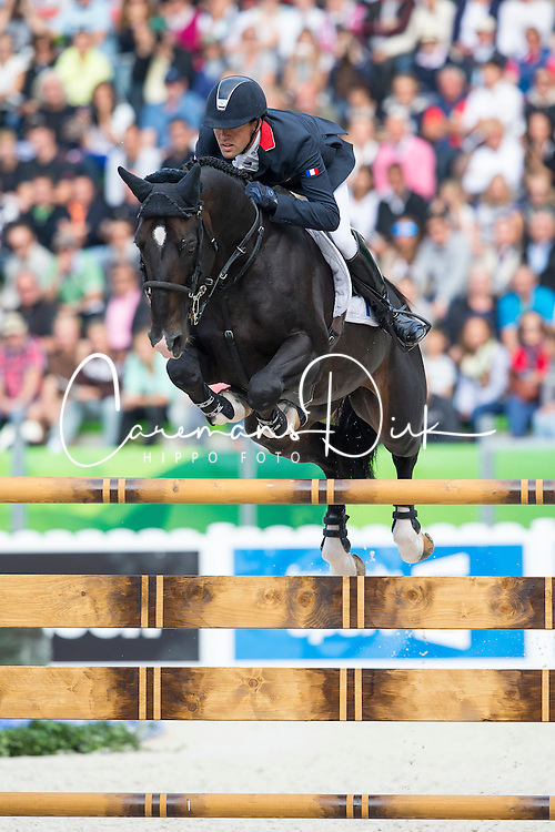 Simon Delestre, (FRA), Qlassic Bois Margot - Team & Individual Competition Jumping Speed - Alltech FEI World Equestrian Games™ 2014 - Normandy, France.<br /> © Hippo Foto Team - Leanjo De Koster<br /> 02-09-14