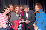 Calrinetist Stanley Drucker signing autographs for young fans, with clarinetist wife Naomi Drucker, after concert presented by MBCCA.org on November 13, 2010 at Merrick, New York, USA