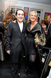 AMANDA ELIASCH and her son CHARLIE ELIASCH at the after party for the press night of 'As I Like It' held at the home of Amanda Eliasch, 24 Cheyne Walk, London on 5th July 2011.