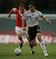 Photo: Rich Eaton.<br /> <br /> Wales v Germany. UEFA European Championships Qualifying. 08/09/2007. Germany's Miroslav Klose attacks