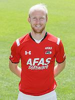 Jop van der Linden during the team photocall of AZ Alkmaar on July 17, 2015 at Afas Stadium in Alkmaar, The Netherlands