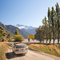 A picturesque drive through the Matukituki Valley leads to the start of the Rob Roy Glacier Track near Wanaka on the South Island of New Zealand.