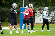 Derek Carr (QB) of the Oakland Raiders during the practice session for Oakland Raiders at the Grove Hotel, Chandlers Cross, United Kingdom on 4 October 2019.