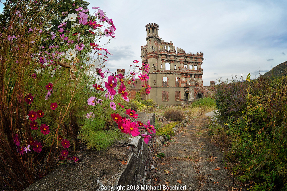 FISHKILL, NY - October 19:  Bannerman Castle on Pollepel Island on October 19, 2013 in FISHKILL, NY. Built by Francis Bannerman VI in 1901 to house munitions and army surplus the castle is property of the New York State Office of Parks, Recreation and Historic Preservation and is mostly in ruins. The Bannerman Castle Trust organization, however, works to preserve the site and gives tours of the island.  (Photo by Michael Bocchieri/Bocchieri Archive)