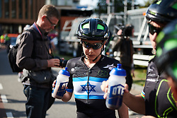 Omer Shapira (ISR) recovers after he day our solo at Boels Ladies Tour 2018 - Stage 4, a 124.3km road race from Stramproy to Weert, Netherlands on August 31, 2018. Photo by Sean Robinson/velofocus.com