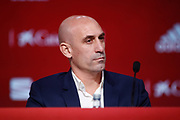 Luis Rubiales, President of the Spanish Football Federation RFEF during the presentation of Luis Enrique as new head coach of the Spanish football team on November 27, 2019 at Ciudad del Futbol in Las Rozas de Madrid, Spain - Photo Oscar J Barroso / Spain ProSportsImages / DPPI / ProSportsImages / DPPI