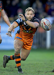 Castleford Tigers Paul McShane during the Betfred Super League match at the Mend-A-Hose Jungle, Castleford. PRESS ASSOCIATION Photo. Picture date: Sunday February 11, 2018. See PA story RUGBYL Castleford. Photo credit should read: Richard Sellers/PA Wire. RESTRICTIONS: Editorial use only. No commercial use. No false commercial association. No video emulation. No manipulation of images.