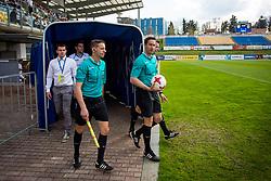 Nejc Kajtazovic and Davor Brezar during football match between NK Celje and NK Domžale in 27th Round of Prva Liga Telekom Slovenije 2016/17, on April 1, 2017 in Arena Petrol, Celje, Slovenia. Photo by Ziga Zupan / Sportida