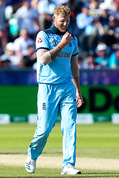Ben Stokes of England cuts a frustrated figure - Mandatory by-line: Robbie Stephenson/JMP - 03/07/2019 - CRICKET - Emirates Riverside - Chester-le-Street, England - England v New Zealand - ICC Cricket World Cup 2019 - Group Stage