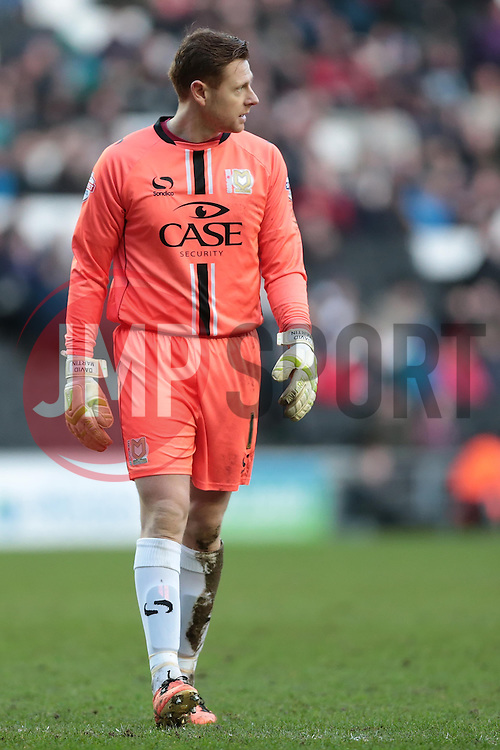 Milton Keynes Dons' David Martin - Photo mandatory by-line: Nigel Pitts-Drake/JMP - Tel: Mobile: 07966 386802 01/02/2014 - SPORT - FOOTBALL - Stadium MK - Milton Keynes - MK Dons v Tranmere Rovers - Sky Bet League One