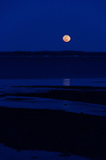 Moonrise over Hulls Cove, Maine