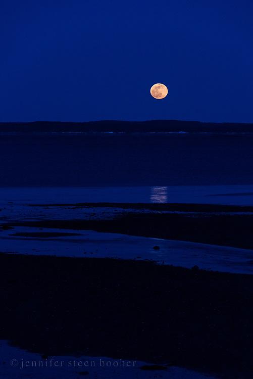 Moonrise over Hulls Cove, Maine