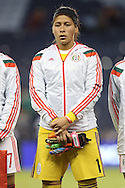 16 October 2014: Cecilia Santiago (MEX). The Mexico Women's National Team played the Costa Rica Women's National Team at Sporting Park in Kansas City, Kansas in a 2014 CONCACAF Women's Championship Group B game, which serves as a qualifying tournament for the 2015 FIFA Women's World Cup in Canada. Costa Rica won the game 1-0.