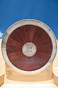 The Nadivalaya Yantra equatorial instrument at Jantar Mantar, The Observatory in Jaipur, Rajasthan, Northern India..