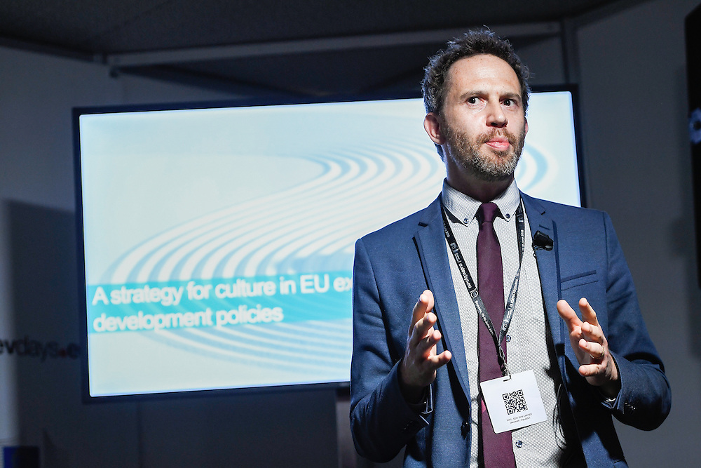 20160615 - Brussels , Belgium - 2016 June 15th - European Development Days - A strategy for culture in EU external relations and development policies  - Damien Helly , Deputy Head of Programme , Strengthening European External Action , European Centre for Development Policy Management © European Union