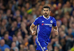 LONDON, ENGLAND - Friday, September 16, 2016: Chelsea's Diego Costa celebrates scoring the first goal against Liverpool during the FA Premier League match at Stamford Bridge. (Pic by David Rawcliffe/Propaganda)