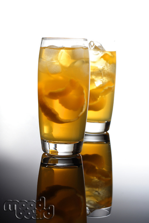 Two drinks - studio shot