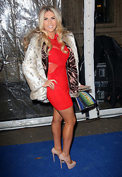 Frankie Essex arriving at the Cirque Du Soleil: Totem - gala night held at  the Royal Albert Hall in London, Thursday 5th January 2012. Photo by: Stephen Lock / i-Images